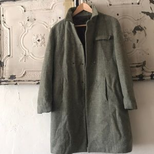 Zara moss green military coat